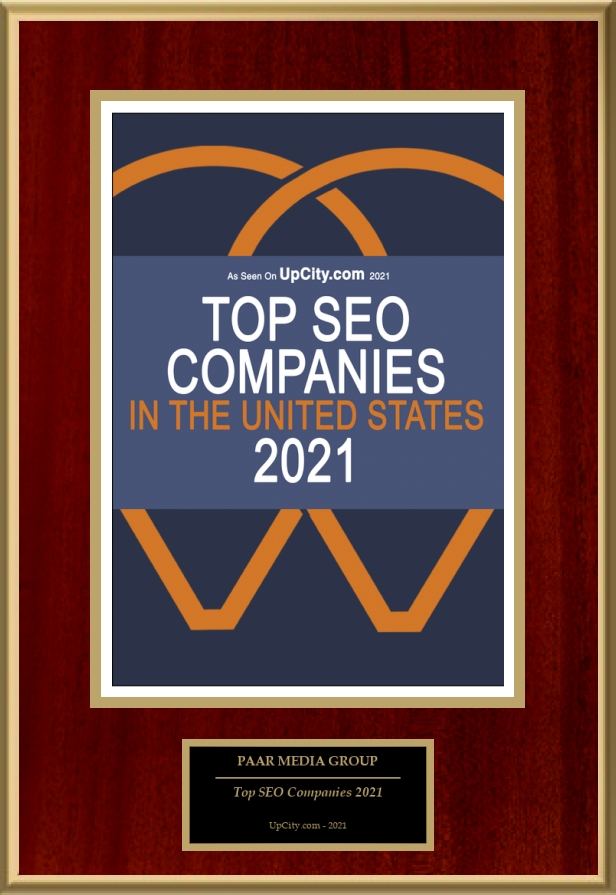 2021 Upcity Award - Best SEO Company in the United States